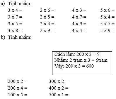 bai 1 trang 9 sgk toan 3 - Giải Toán lớp 3 bài: Ôn tập các bảng nhân