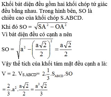 Giải Toán lớp 12 Bài 3: Khái niệm về thể tích của khối đa diện