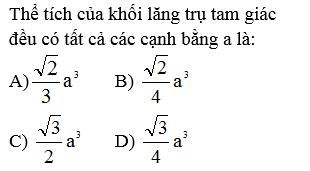 Giải Toán lớp 12 Câu hỏi trắc nghiệm chương I