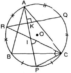 Giải Toán lớp 9 Bài 5: Góc có đỉnh ở bên trong đường tròn. Góc có ngoài ở bên trong đường tròn
