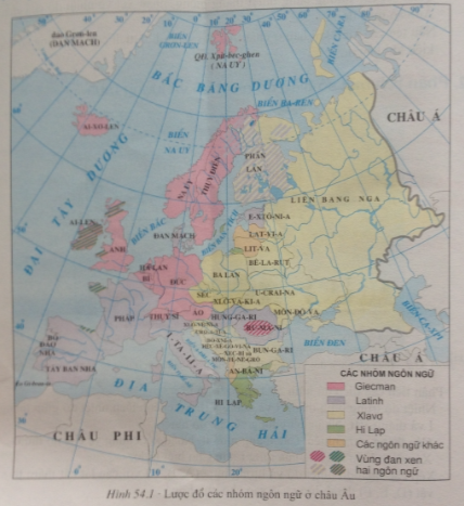 Giải bài tập Địa lý lớp 7 Bài 54: Dân cư xã hội châu Âu