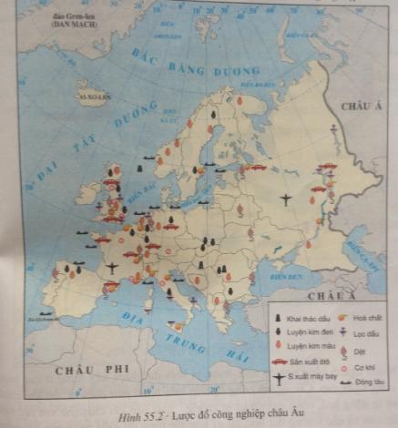 giai bai tap dia ly lop 7 bai 55 kinh te chau au 1 - Giải bài tập Địa lí lớp 7 Bài 55: Kinh tế châu Âu
