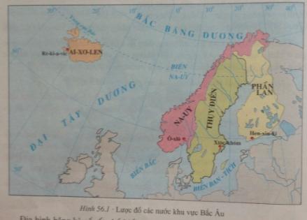 giai bai tap dia ly lop 7 bai 56 khu vuc bac au - Giải bài tập Địa lí lớp 7 Bài 56: Khu vực Bắc Âu