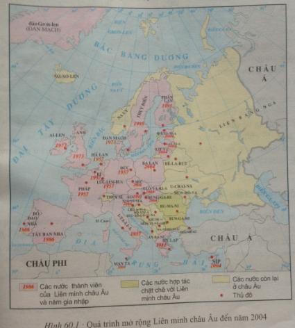 giai bai tap dia ly lop 7 bai 60 lien minh chau au - Giải bài tập Địa lí lớp 7 Bài 60: Liên minh Châu Âu