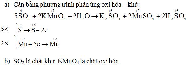 Giải Hóa lớp 10 bài 32: Hiđro sunfua - Lưu huỳnh đioxit - Lưu huỳnh trioxit