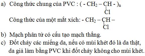 Giải Hóa lớp 9 bài 54: Polime