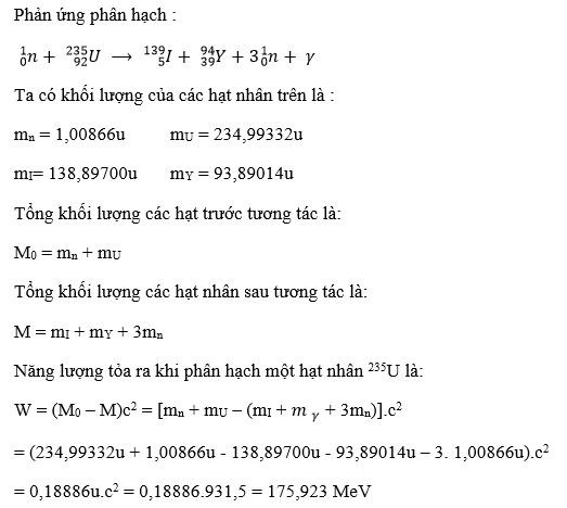 giai ly lop 12 bai 38 phan ung phan hach 4 - Giải Lý lớp 12 Bài 38: Phản ứng phân hạch